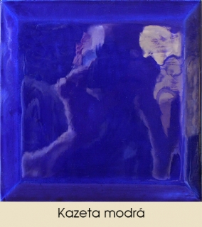 Kazeta modrá